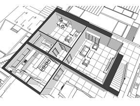 3D Architectural Floor Plan Services for Commercial Real Estate - Apartments Example