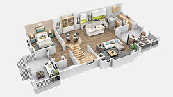 3D Colored Floor Plans - Residential - Convert Your Blueprints or CAD file - Services