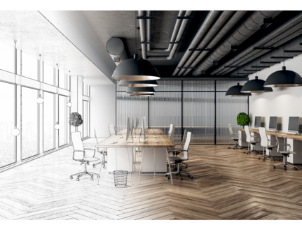 3D Commercial Interior Render Example - Office Interior