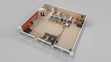 3D colored floor plans - Convert your blueprints - CAD files - architectural drawings - Services