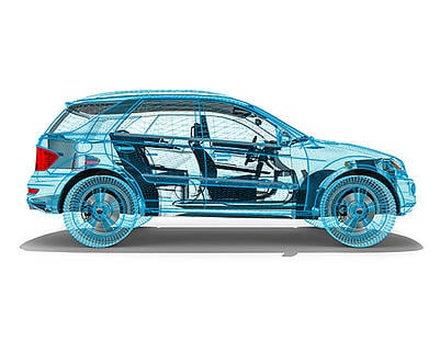 3D product render - Car render - Mesh