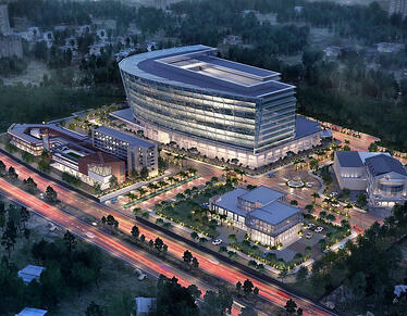 Architectural Rendering - Aerial View - Commercial Real Estate - 2