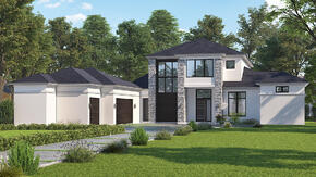 Basic 3D Exterior Rendering Services for Residential Real Estate - House Rendering_