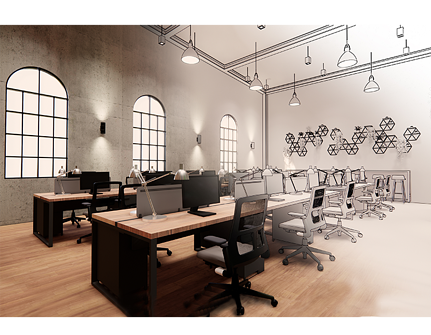 Commercial 3D Rendering - Office Space Example