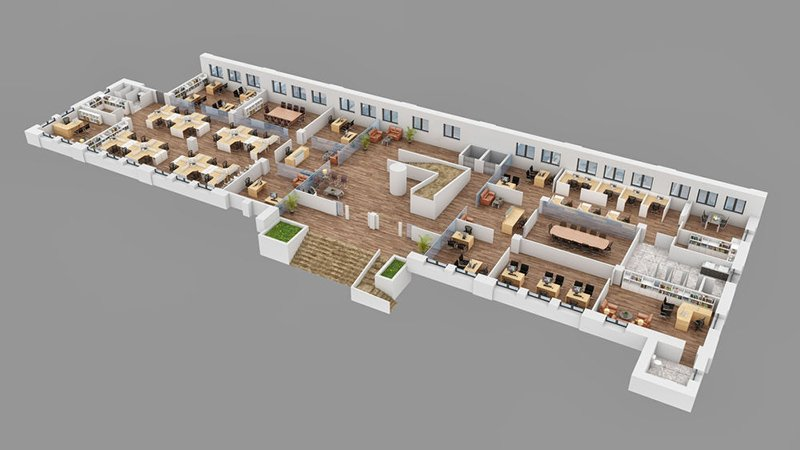 5 - 3D Architectural Floor Plans for Commercial Real Estate