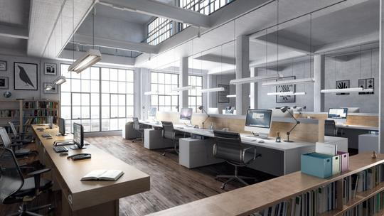 Commercial Interior 3D Rendering