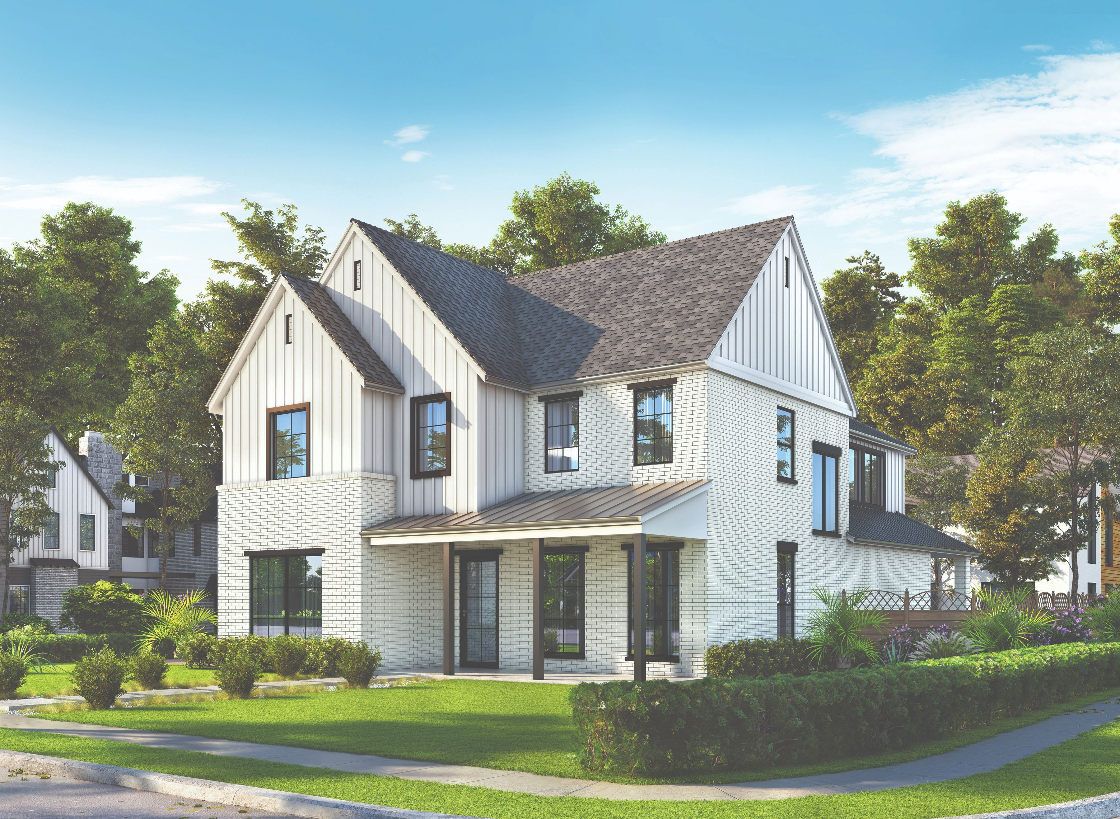 Exterior rendering of residential proprty