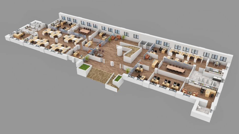 Office Space 3D Rendering Services