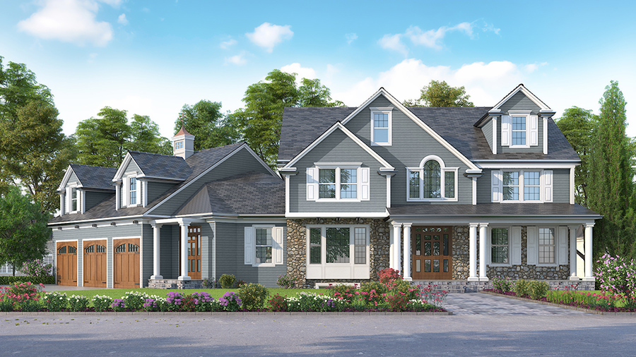 Residential Exterior - 3D Architectural Real Estate Rendering - White Label Services